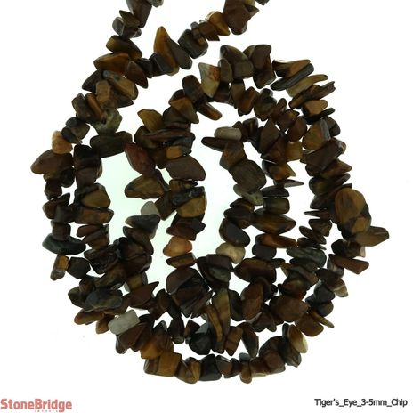 """Tiger's eye - Chips Bead 32"""" strand - 5 to 8mm"""