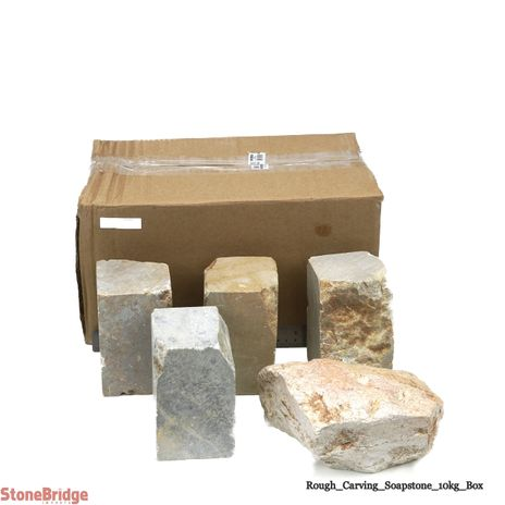 Soapstone for Carving Chunk - 22 lb Box - 1 to 5 pieces