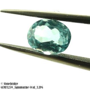Aquamarine Oval Set of 2 pieces GEMFA259