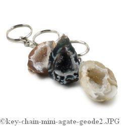 Agate Geode Key Chain