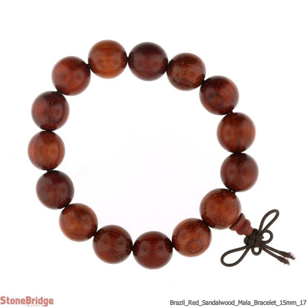 Brazil Red Sandalwood Mala Bracelet - 15mm