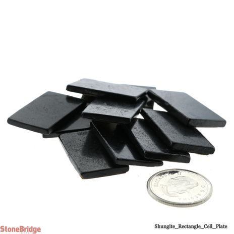 """Shungite EMF Protection Cell Plate - 1"""" x 1/2"""" - Pack of 10"""
