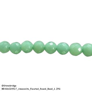 "Amazonite Faceted - Round Bead 7"" strand - 8mm"