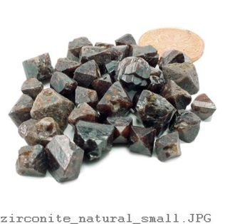 "Zircon Crystals 50g bag - 1/4"" to 1"" - 8 to 20 pieces"