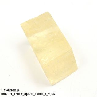 """Yellow Calcite Optical Crystal Natural (Iceland Spar) Size #1 - 1"""" to 1 3/4"""""""