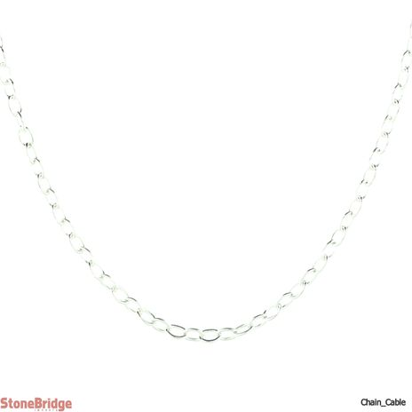 "Cable 017 (1.3 mm) 18"" - Sterling Silver Chain"