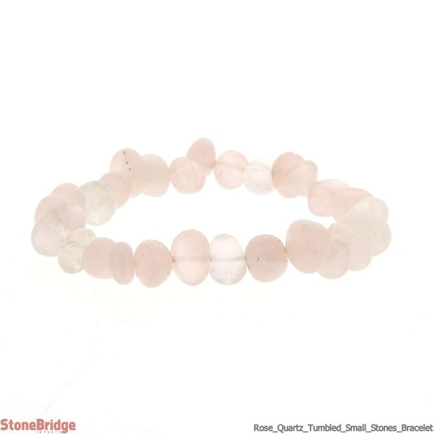 Rose Quartz Tumbled (Small Stones) Bracelet