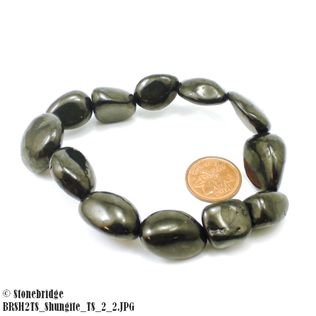 Bracelet Tumbled Shungite Elastic - 15mm to 20mm beads