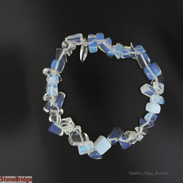 Opalite Chip Bead Stretch Bracelet