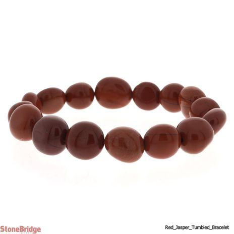 Red Jasper Tumbled Bead Stretch Bracelet