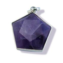 Amethyst Star of David - Silver Pendant