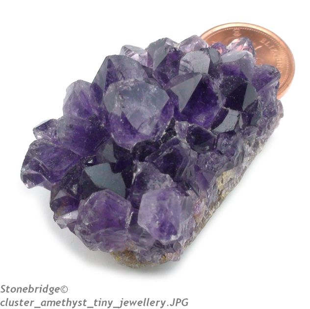 amethyst cluster for jewellery