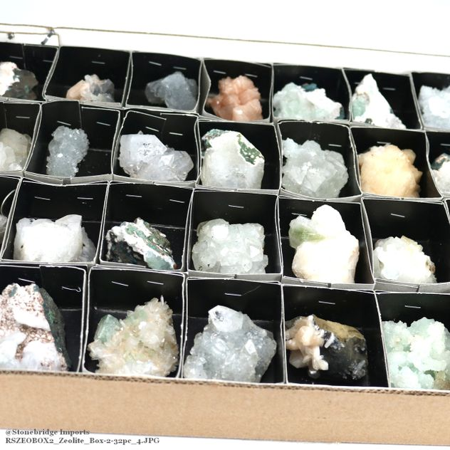 Zeolite Crystal Clusters - Box of 32