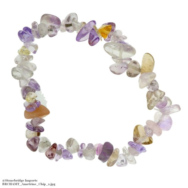 Ametrine Chip Bead Stretch Bracelet