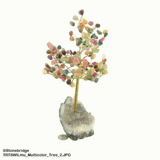 Multicolour Gem Tree with Wire Trunk 8""