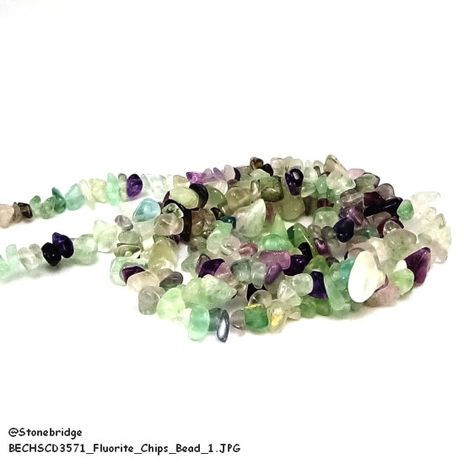 """Fluorite - Chips Bead 32"""" strand Assorted - 5 to 15mm"""