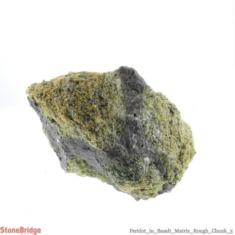 "Peridot in Basalt Matrix Rough Chunk #3 - 4"" to 9"""