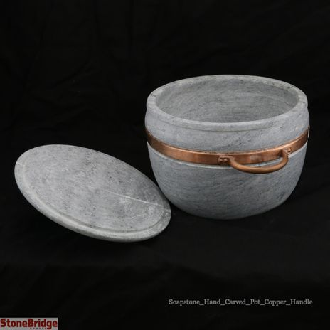 Soapstone Pot with Lid Large - 4L