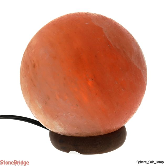 "Himalayan Salt Lamp - Ball Shape - 8"" Diameter"