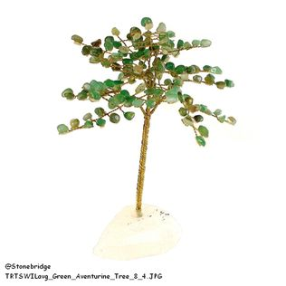 Green Aventurine Gem Tree with Wire Trunk 8""