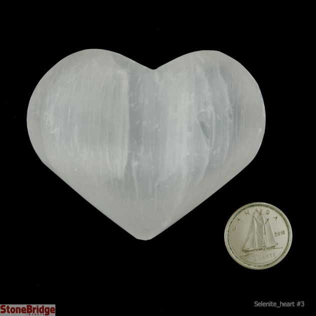 Selenite Puffy Heart - Size #3
