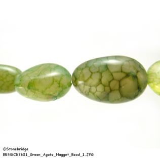 Green Agate - Nugget Bead