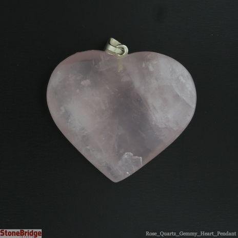 Rose Quartz Gemmy Heart Pendant - 28mm x 27mm