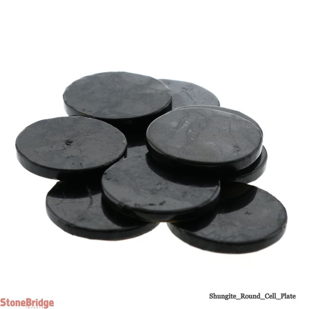 "Shungite Cell Plate Round - 3/4"" - Pack of 10"