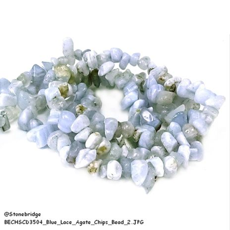 Blue Lace Agate - Chips Bead