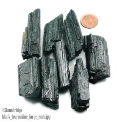 Tourmaline Black Crystal Rods Medium - 8 to 20 pieces per bag - 200g bag