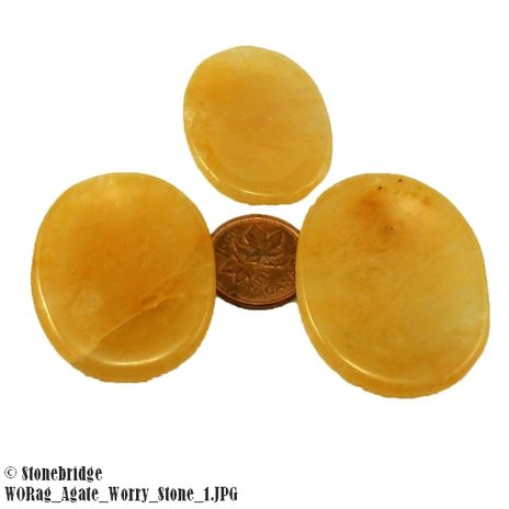 Agate Worry Stone