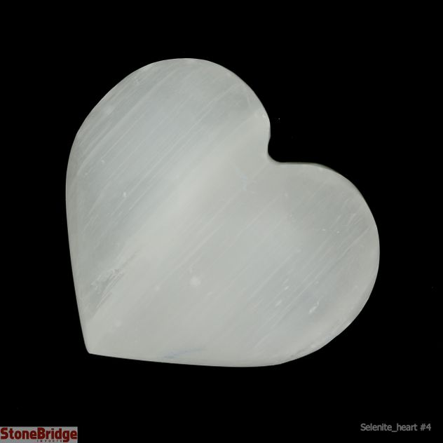 Selenite Puffy Heart - Size #4