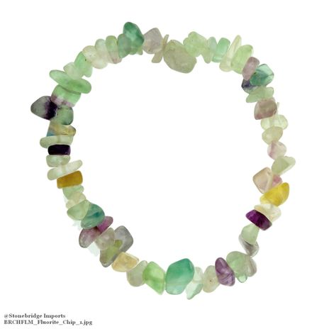 Fluorite Chip Bead Stretch Bracelet