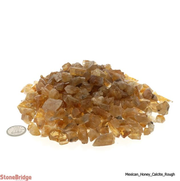 Calcite Honey Mexico Chips - Tiny
