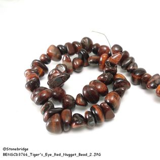 Tiger's eye Red - Nugget Bead