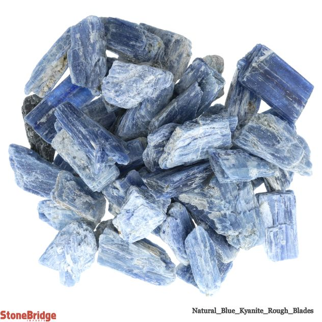 "Blue Kyanite Rough Blades ""A Quality"" Small - 500g Bag"