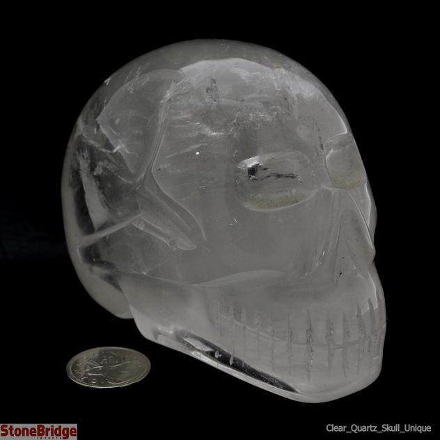Clear Quartz Crystal Skull Unique #30