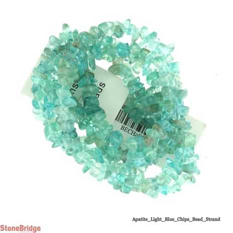 "Apatite - Light Chips Bead 32"" strand - 5 to 8mm"