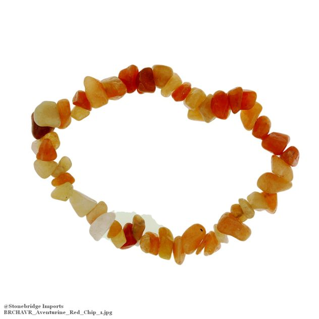 Aventurine Red Chip Bead Stretch Bracelet