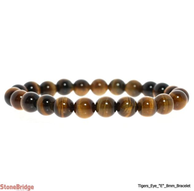 Tiger Eye Extra Round Bead Stretch Bracelet