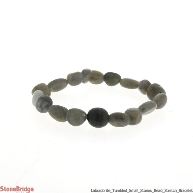 Labradorite Tumbled (small stones) Bead Stretch Bracelet
