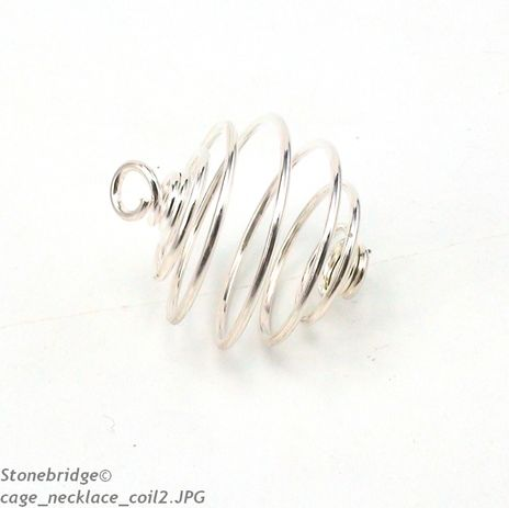 Silver Coil Cages - Small 25mm - Pack of 20 pieces