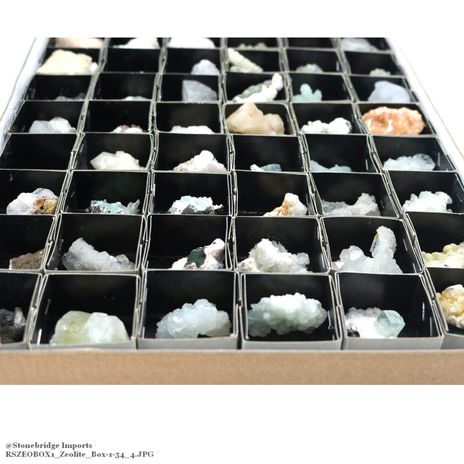 Zeolite Crystal Clusters - Box of 54
