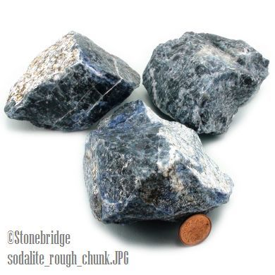 """Sodalite Crystal Chunk #0 - 2"""" to 3"""" - 100g to 299g"""