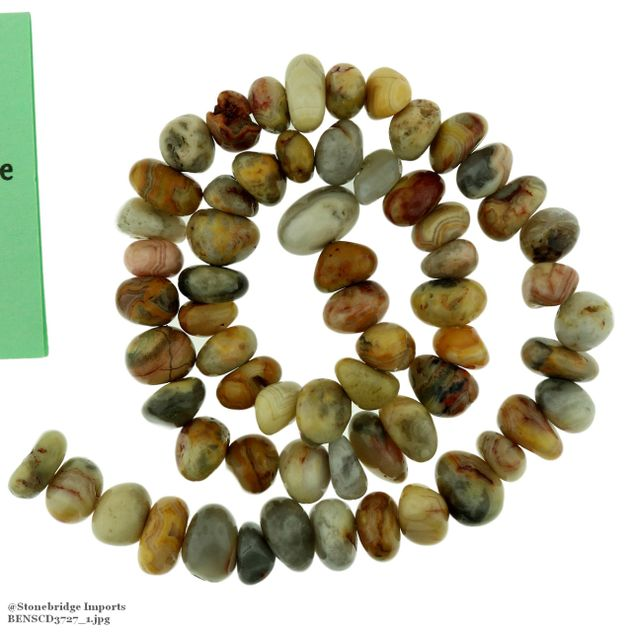 """Crazy Lace Agate - Nugget Bead 15"""" strand - 8 to 15mm"""