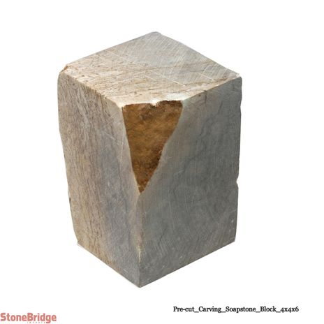 """Soapstone for Carving Block (final sale) - 4"""" x 4"""" x 6"""""""