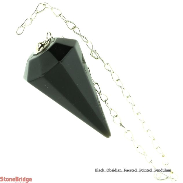 Black Obsidian Pointed Pendulum - Type 3