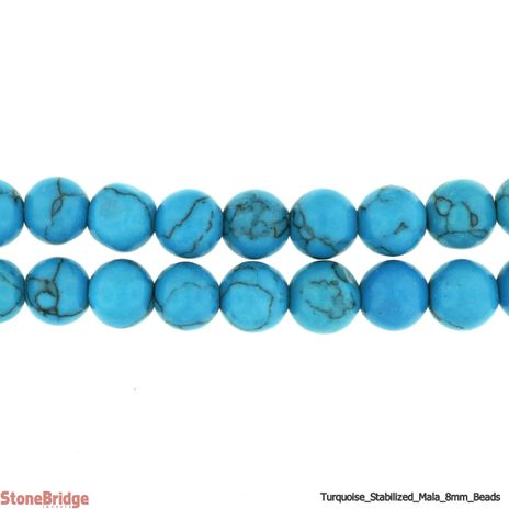 Turquoise Japa Mala Prayer Beads - 8mm