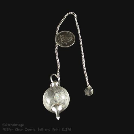 Clear Quartz Ball and Point Pendulum