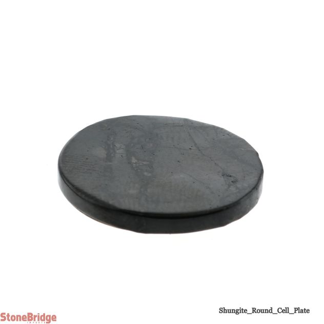 Shungite Cell Plate Round - 3/4""